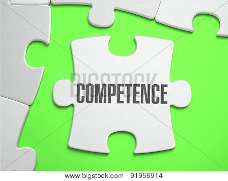 Competence - Jigsaw Puzzle with Missing Pieces.