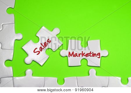 Sales Marketing Text - Business Concept