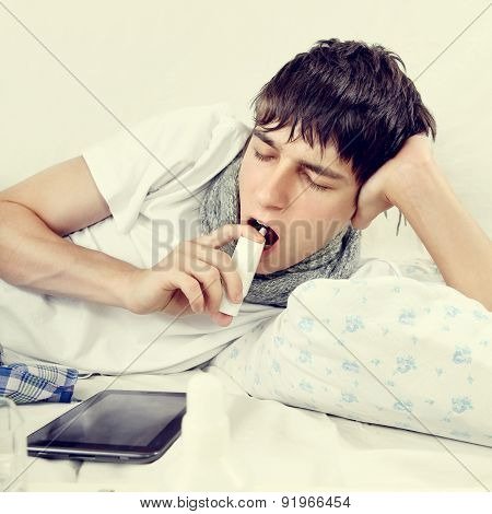 Young Man With Inhaler