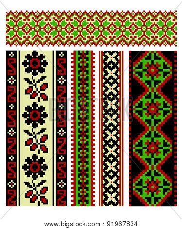 Vector Illustration With Ukrainian Ethnic Pattern.