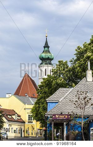 Grinzing With Church And Himmelstrasse