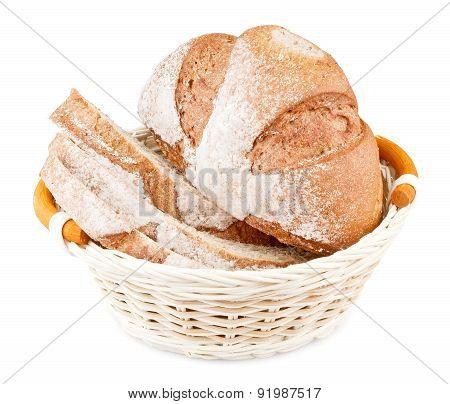 Sliced Bread In Basket