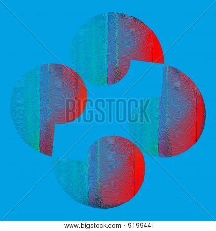 abstract composition. abstract composition with the transformed spheres poster