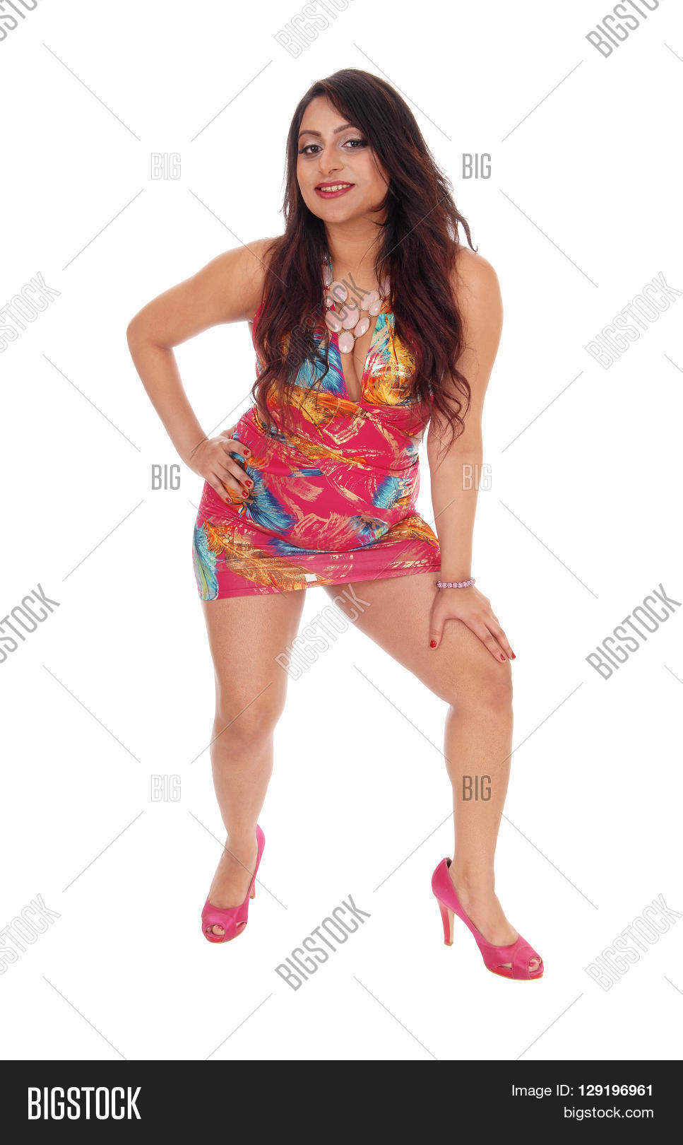 pretty east indian young woman image & photo | bigstock