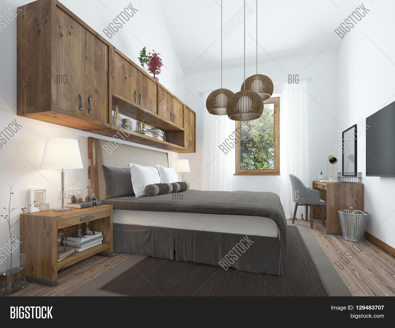 Bedroom Loft Style Image Photo Free Trial Bigstock