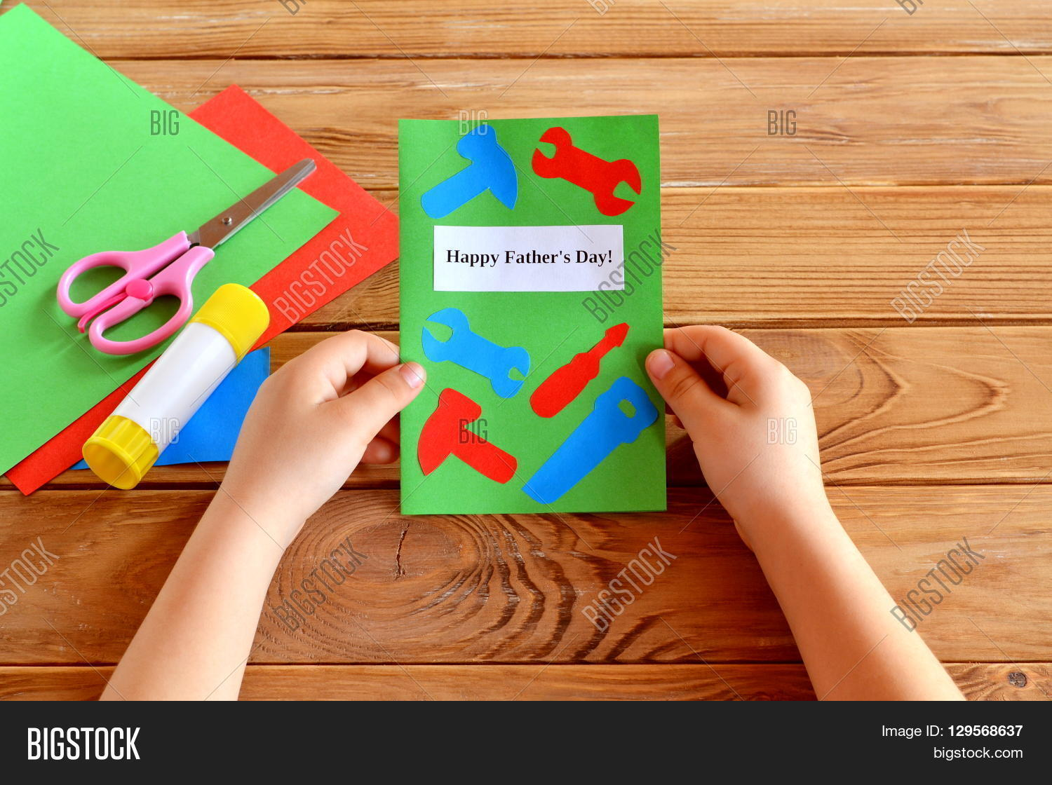 Child Holds Greeting Image Photo Free Trial Bigstock