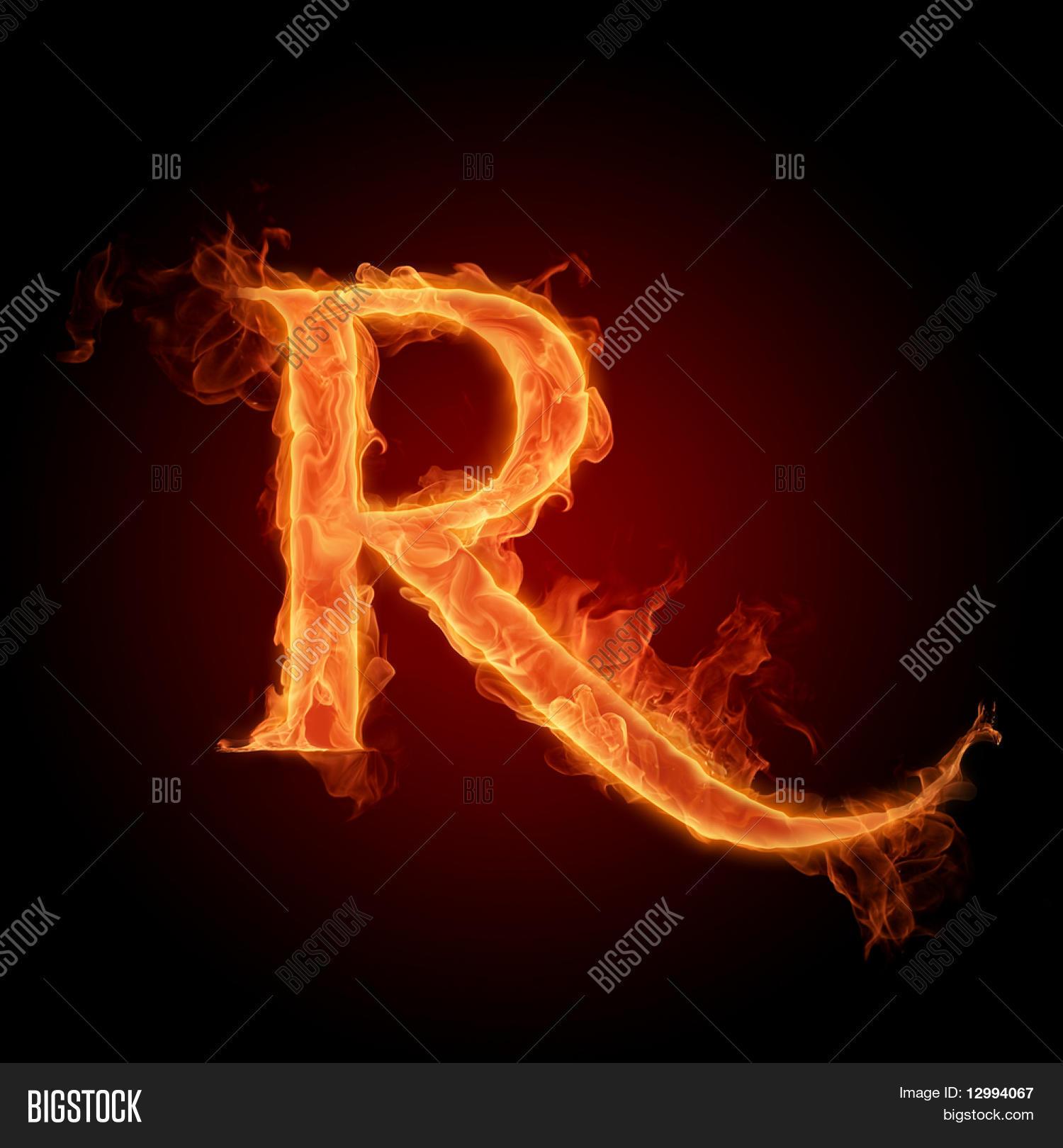 Fiery Font Letter R