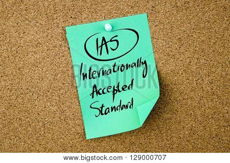 Business Acronym Ias Internationally Accepted Standard