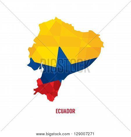 Map Of Ecuador Vector Illustration. EPS 10