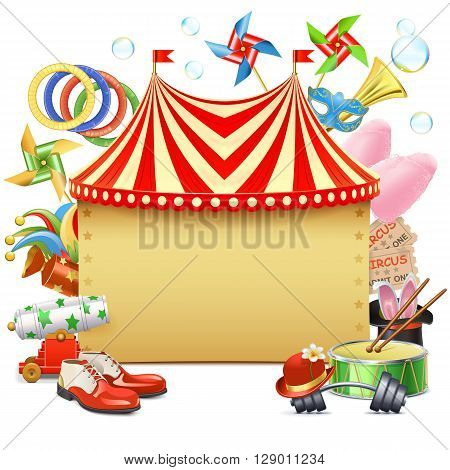Vector Circus Marquee isolated on white background
