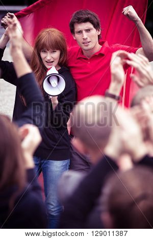 People With Megaphone