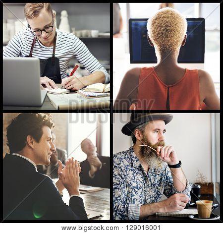 Urban Business Corporation Career Community Concept