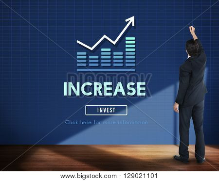 Increase Enlarge Expand Extend Growth Rise Concept