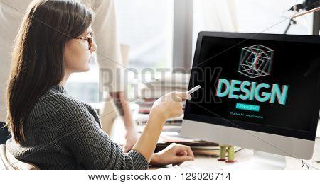 3D Creativity Illusion Graphic Futuristic Concept