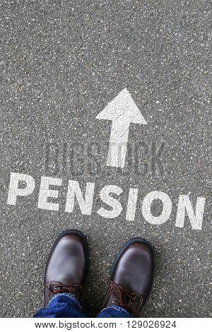 Pension retirement retire business concept senior working
