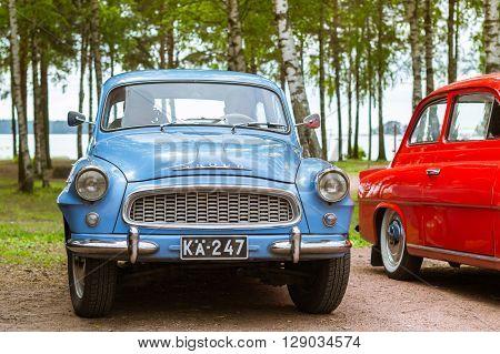 Blue Skoda Felicia Coupe, Retro-club Of Czech Automaker