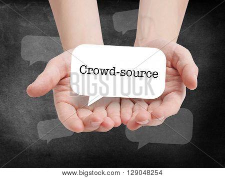 Crowd Source written on a speechbubble