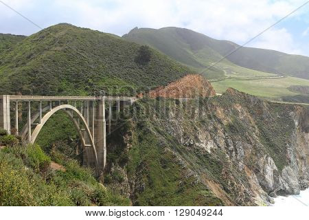 Bixby Bridge and scenery along California's Hwy 1