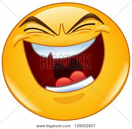 Yellow ball with evil laugh