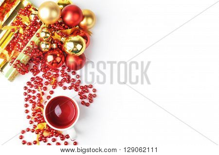 Style stock photography | Mock up product | Gold & Red design | stock photo