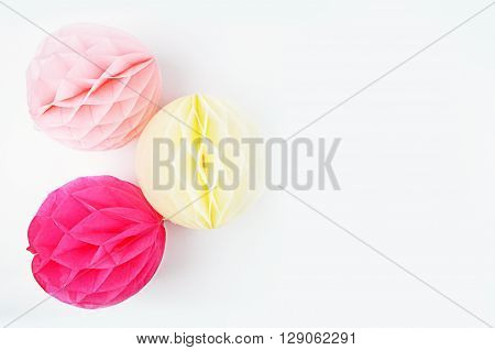 Party Styled Desktop Image | Styled Stock Photography | Product Mock up | Product Photography. Gold accessories. Balls blush and yellow. Party background. Flat lay