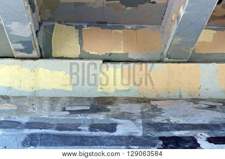 Graffiti Painted Over Underside Of Bridge