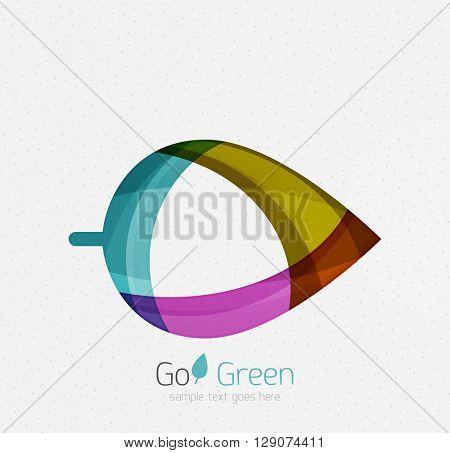 Green concept, geometric design eco leaf. Vector
