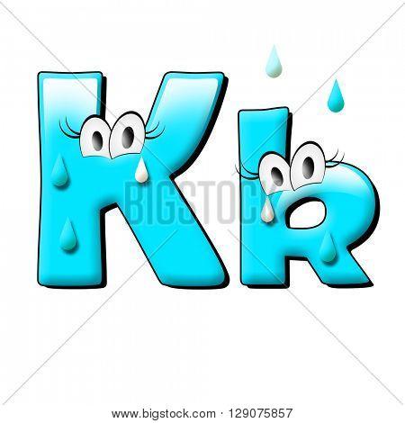 Water alphabet. 3d illustration.