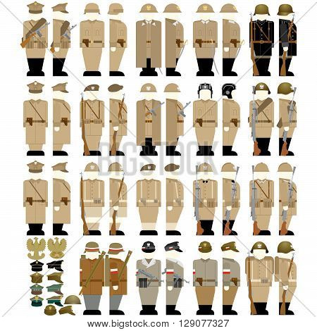 Insignia Army of Poland 1939-45. The illustration on a white background.