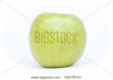 Green apple on white background, stock photo