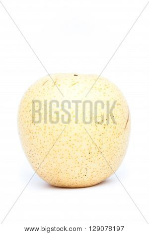Chinese pear on white background, stock photo