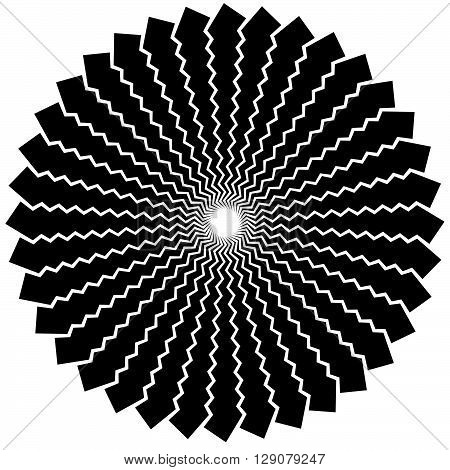 Abstract Radiating Lines Element.