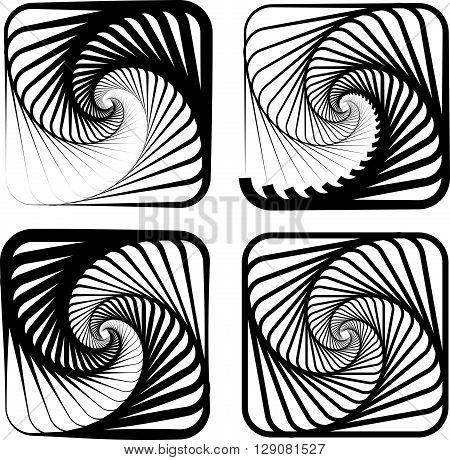Various Abstract Spiral, Vortex Effects.