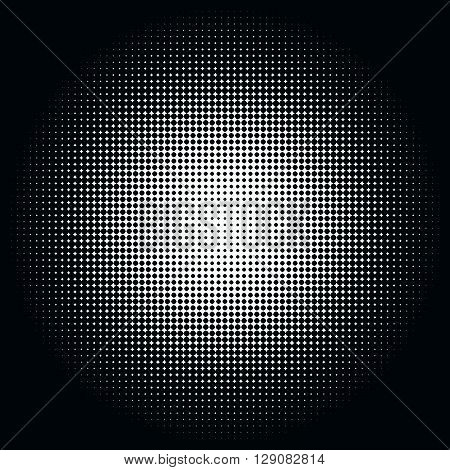 Abstract Graphic: Halftone Element Made Of 4-point Stars