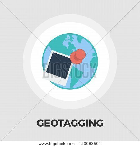 Geotegirovanie icon vector. Flat icon isolated on the white background. Editable EPS file. Vector illustration.
