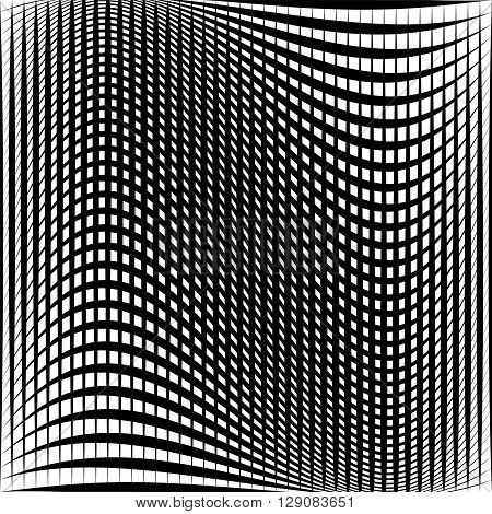 Distorted Abstract Grid, Mesh Background, Intersecting Lines
