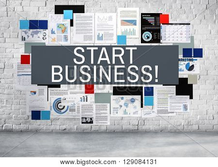 Start Business Startup Development Goal Concept