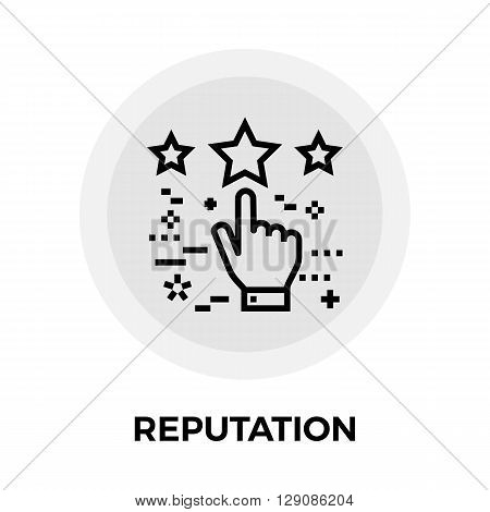 Reputation icon vector. Flat icon isolated on the white background. Editable EPS file. Vector illustration.