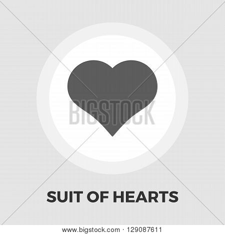 Suit of heart icon vector. Flat icon isolated on the white background. Editable EPS file. Vector illustration.
