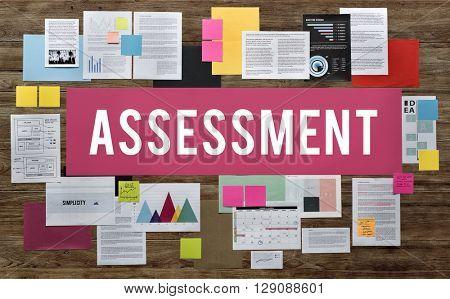 Assessment Analysics Audit Control Review Concept