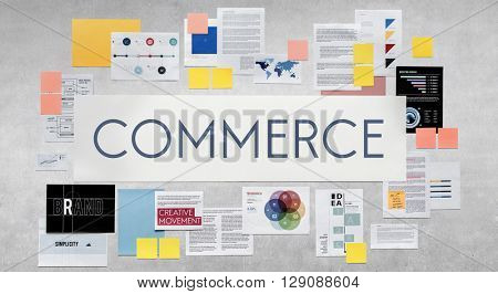 Commerce Business Bur Sell Trade Retail Market Consumerism Concept