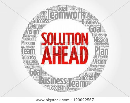 Solution Ahead Circle Word Cloud