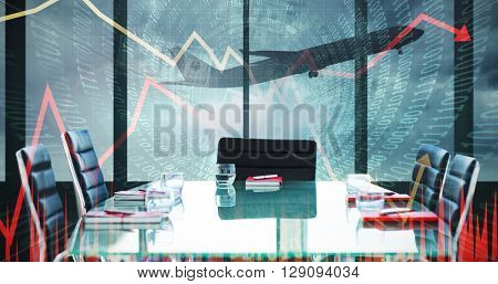 Composite image of boardroom on a airport