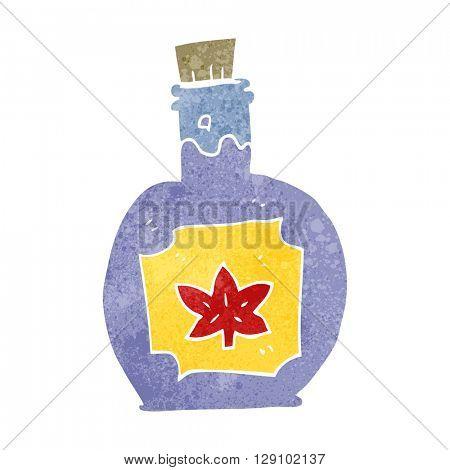 freehand retro cartoon maple syrup