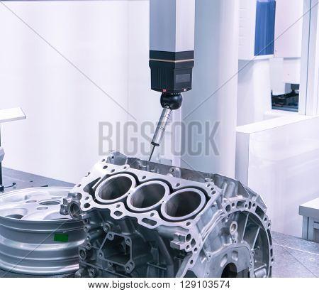 inspection dimension aluminum automotive parts by CMM