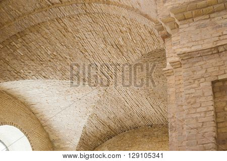 brick lancet arch ceiling in the fortress.