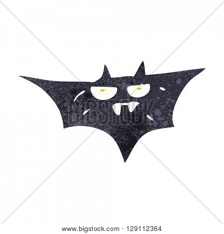 freehand retro cartoon halloween bat