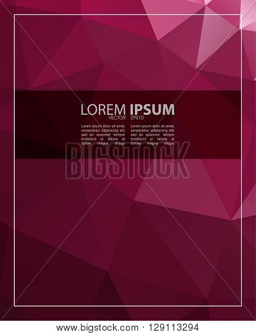 eps10 vector polygon elements elegant rectangle frame concept design