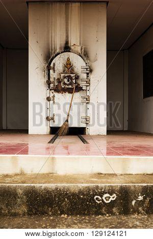 Cremation Buddhist building of cremation in Thailand