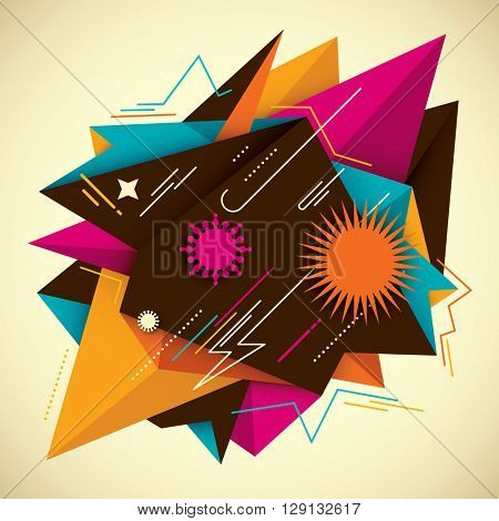 Colorful abstract background. Vector illustration.